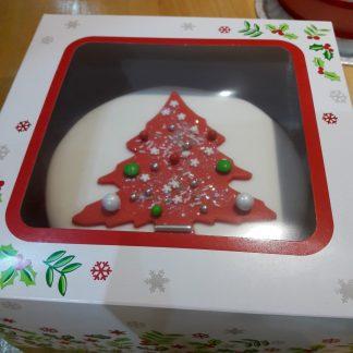 Christmas Cake - Iced - Glazed - Gluten Free